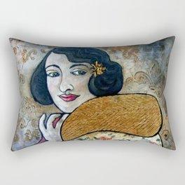 Vintage Impressions * Fuchia Scarf Rectangular Pillow