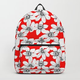 Graphite floral pattern - Updated Backpack