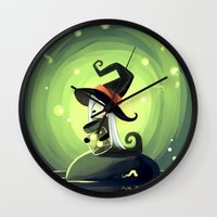 fireflies Wall Clocks featuring Fireflies by Freeminds