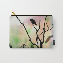 The Lonely Crow At Sunset Carry-All Pouch