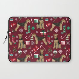 Airedale Terrier Christmas dog print dog pattern airedale pillow airedale phone case Laptop Sleeve