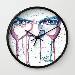 Bowie Watercolor  Wall Clock