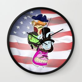 FBH Presidents Wall Clock