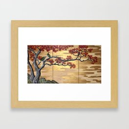 Japanese Fall Leaves Framed Art Print