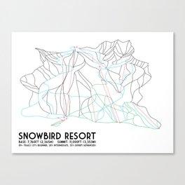 Snowbird, UT - Minimalist Trail Map Canvas Print