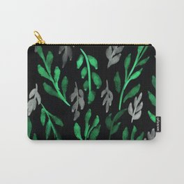 180726 Abstract Leaves Botanical Dark Mode 3 |Botanical Illustrations Carry-All Pouch