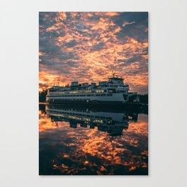 Friday Harbor Ferry Canvas Print