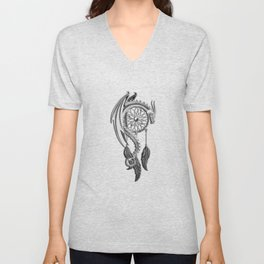 Dragon Dream Catcher Unisex V-Neck