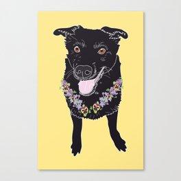 Happy Black Lab Dog Canvas Print