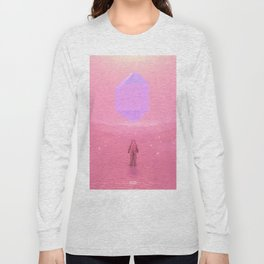 Lost Astronaut Series #03 - Floating Crystal Long Sleeve T-shirt