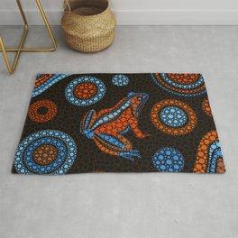 Aboriginal Dot Art Frog Color Rug