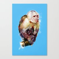 monkey Canvas Prints featuring Monkey by beart24