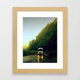 Mountain Bus Framed Art Print