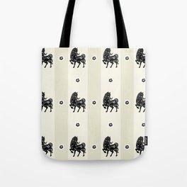 Horse Paper Cut Tote Bag