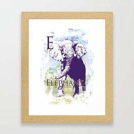 E Elephant Framed Art Print