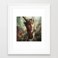 prince Framed Art Prints featuring The Prince of Asgard by Alice X. Zhang