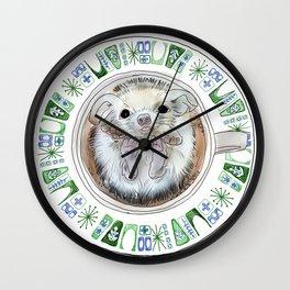 Hedgehog Hot Tub Wall Clock