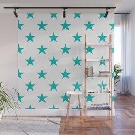 Stars (Eggshell Blue/White) Wall Mural