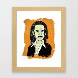 Nick Cave Portrait Framed Art Print