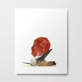 Grounded Jewel Ruby Metal Print