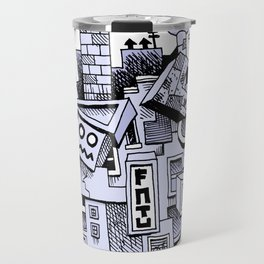 Jumbled City full of assorted junnk Travel Mug