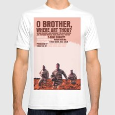 O Brother, Where Art Thou Movie Poster  MEDIUM Mens Fitted Tee White