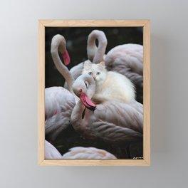 a crying shoulder Framed Mini Art Print