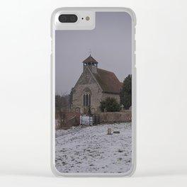 Goodnestone Church In Winter Clear iPhone Case