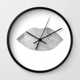 black lips Wall Clock