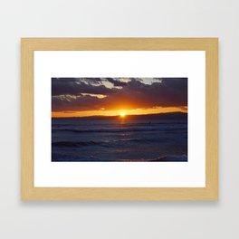 The Beach Life - Sunset Framed Art Print