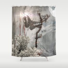 Something Glows Shower Curtain