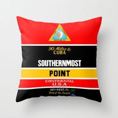 Southern Most Point, Key West, Florida/サザン・モスト・ポイント Throw Pillow