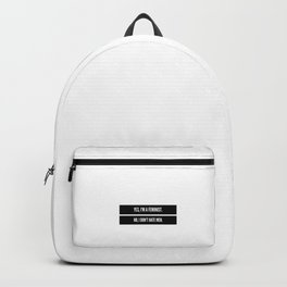 Feminist social justice warrior quote Backpack