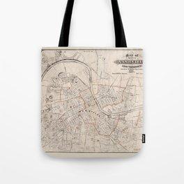 Map Of Nashville 1879 Tote Bag