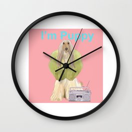 I'm Puppy Wall Clock