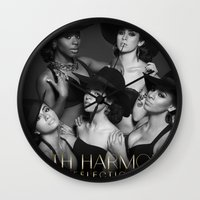 fifth harmony Wall Clocks featuring Fifth Harmony - Reflection by xamjx3