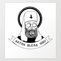 Satan bless you Art Print