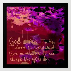 God I Look To You Art Print