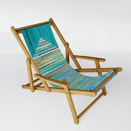 Mountain Lake Abstract Sling Chair