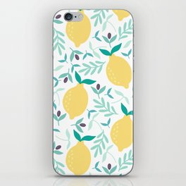 Lemon & Blueberry Pastel iPhone Skin