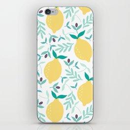 Lemon & Blueberry Pastel iPhone Skin