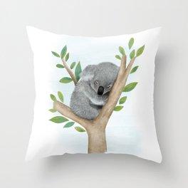 Sleeping Koala Bear Throw Pillow
