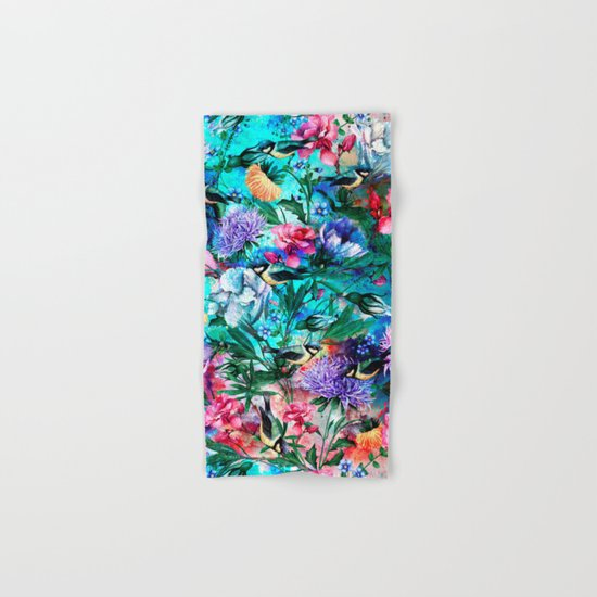 RPE Seamless Floral & Birds IV Hand & Bath Towel