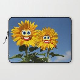 Sonnenblumenfrau und Sonnenblumenmann Laptop Sleeve