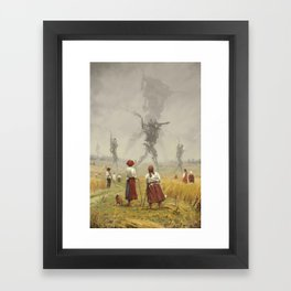 1920 -The march of the Iron Scarecrows Framed Art Print
