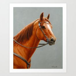 Red Dun Western Quarter Horse Art Print