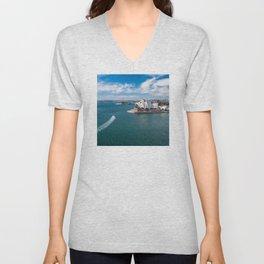 Sydney Harbor and Sydney Opera House Unisex V-Neck