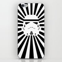 storm trooper iPhone & iPod Skins featuring Storm Trooper by RobotSpaceBrain