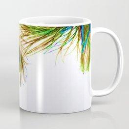 GORGEOUS BLUE-GREEN PEACOCK FEATHERS ART Coffee Mug