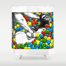 asc 470 - Games allowed in the store after closing time Shower Curtain